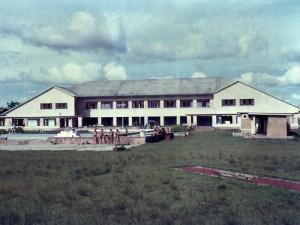 Одно из зданий базы Камина.