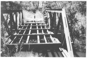 Мост через реку Лубалаши. Вид со стороны деревни Каламата.