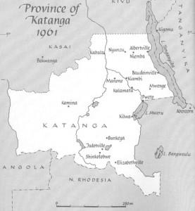 Карта Катанги, из книги Майка Хоара The Road to Kalamata.