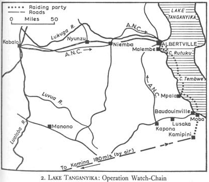 Карта из книги Майка Хоара Congo Mercenary